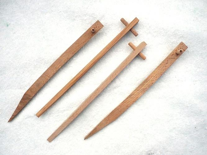 Dřevěný upevňovací kolík – Geopin Wood 300 - 250 ks