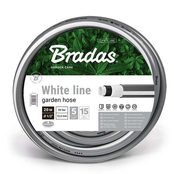 """Zahradní hadice – WHITE LINE průměr 1/2"""" (12,5 mm), délka 20 m"""