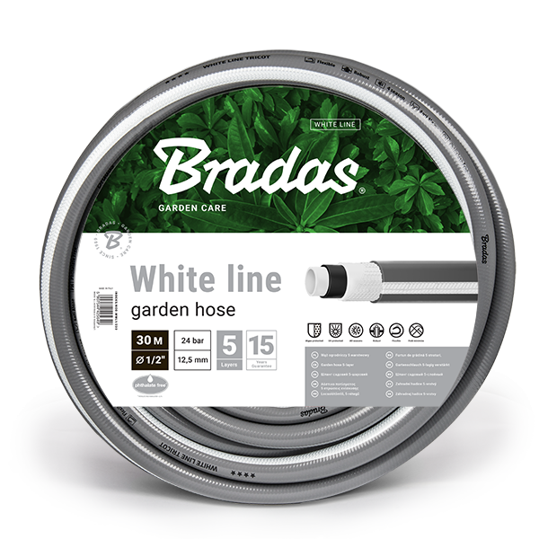"""Zahradní hadice – WHITE LINE průměr 1/2"""" (12,5 mm), délka 30 m"""